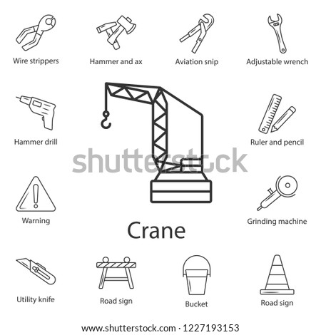 tower crane icon simple element illustration stock illustration Crane Reeving tower crane icon simple element illustration tower crane symbol design from construction collection set