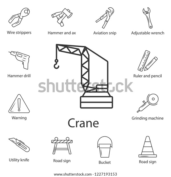 Tower crane icon. Simple element illustration. Tower crane symbol design from Construction collection set. Can be used for web and mobile