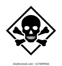 Toxic safety Hazard Danger Harmful Malware Virus  sign illustration isolated on background