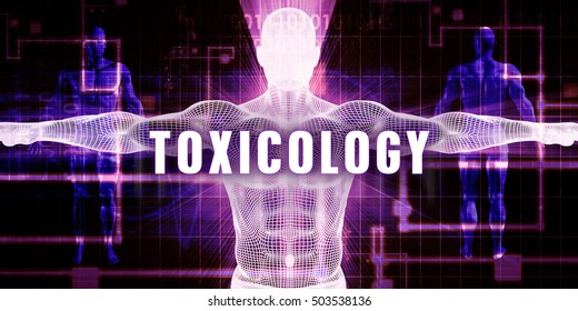 Toxicology as a Digital Technology Medical Concept Art 3D Illustration Render