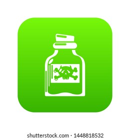 Toxin bottle icon. Simple illustration of toxin bottle icon for web