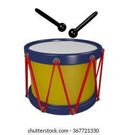 Toy Drum Cartoon