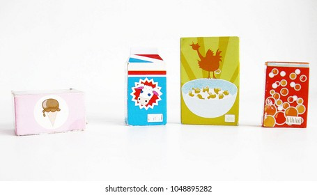 Toy food on white background. - Shutterstock ID 1048895282