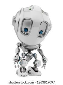 Toy robot creature, 3d illustration