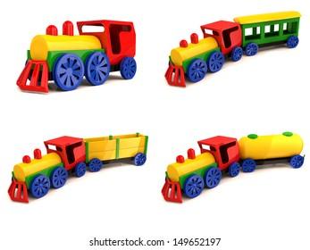 Toy train . Set of 3d models