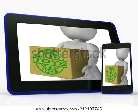 Toys Box Meaning Shopping Buying Children Stock Illustration