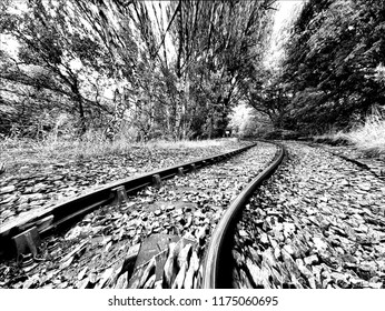 Track To My Dreams - An illustration in B&W