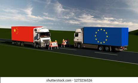 Trade blockade eu and china - Import, Export, Customs