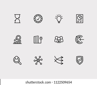 Trade icons set. Business marketing and trade icons with reliable value, proactive and business data. Set of deposit for web app logo UI design.
