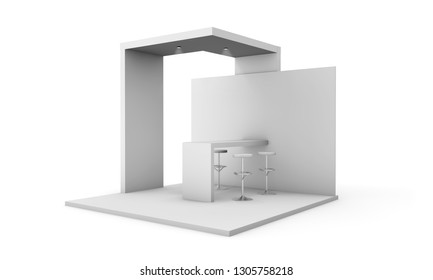 trade show event stand isolated 3d rendering