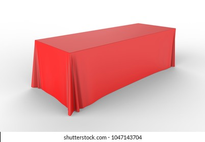 Trade show exhibition advertising runner table adjustable cloth  Banner or Table cover. 3d render illustration.
