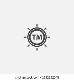 Trademark icon. Simple element illustration. Trademark symbol design from Entrepreneurship collection. Can be used for web and mobile.