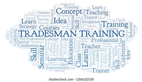 Tradesman Training word cloud.