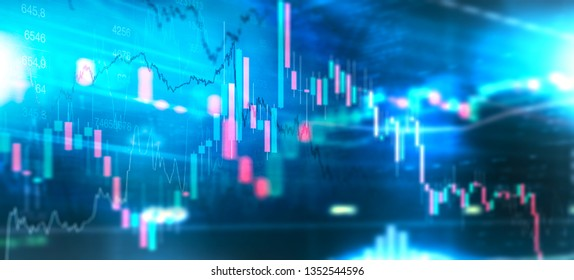 Trading stock market chart