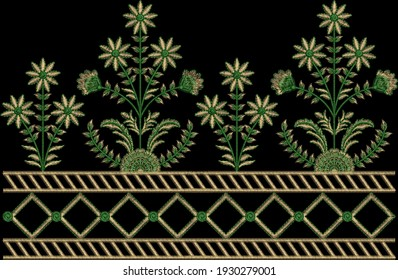 Tradition Mughal Motif Fantasy Flowers
