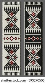 Traditional Arabian Sadu Motifs Weaved Bookmarks