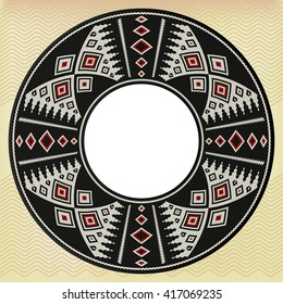 Traditional Arabian Sadu Weaving Circle Frame