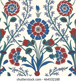 Traditional Arabic ornament seamless for your design. Floral ornamental seamless pattern for ceramic tile,