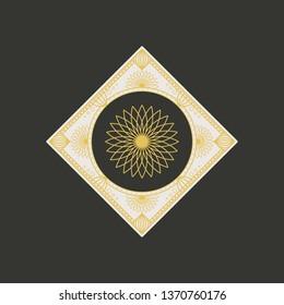 Traditional asian ornament. Arabic rhombus geometric symbol