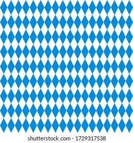 traditional bavarian rhombuses in blue and white