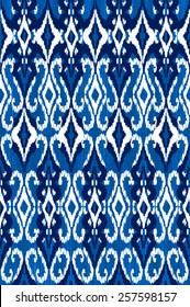 traditional blue ikat ~ seamless background