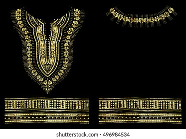 Traditional Dashiki African Pattern Foil