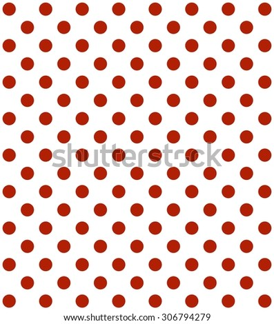 Traditional Dotted Wallpaper With Red Dots And White Background