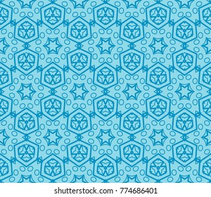 Traditional geometric seamless pattern for wallpaper, textile.    illustration