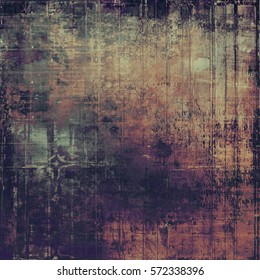 Traditional grunge background, scratched texture with vintage style design and different color patterns: yellow (beige); brown; gray; purple (violet); pink; black