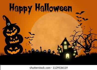 Traditional Halloween design template