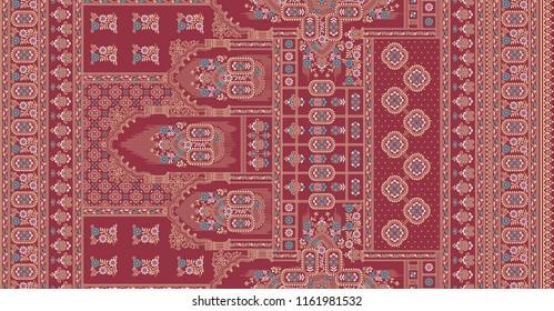 traditional indian  motif gold sari  border