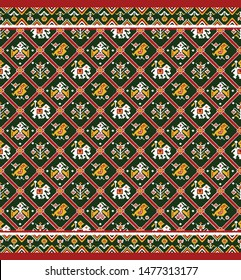traditional Indian seamless textile design for digital print patola
