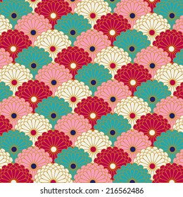 Traditional japanese flower pattern background