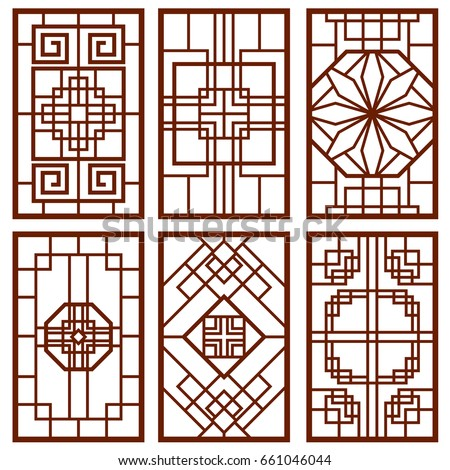 00a6be36764 Royalty Free Stock Illustration of Traditional Korean Door Window ...