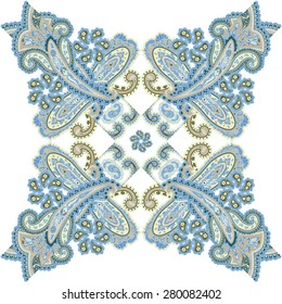 Traditional ornamental seamless background. Paisley wedding design. Eastern style pattern