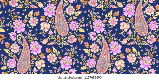 Traditional Paisley Floral design