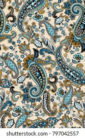 Traditional pattern of Middle East Asian   Paisley design