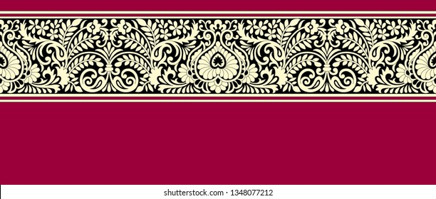 traditional red black border