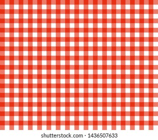 Traditional red and white tablecloth background texture