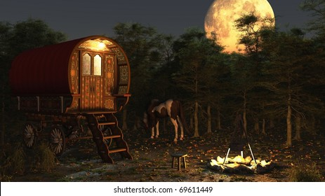 Gypsy Caravan Images, Stock Photos & Vectors | Shutterstock