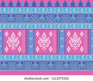 traditional seamless background strokes  bandhani  patola  border