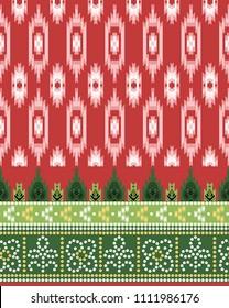 traditional seamless background strokes  bandhani patola  border design