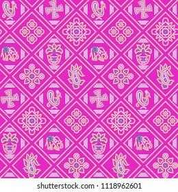 traditional seamless BANDHANI patola PINK  pattern