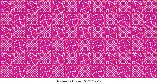 traditional seamless indian bandhani pattern