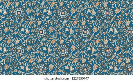 traditional seamless  textile  paisley motif  pattern