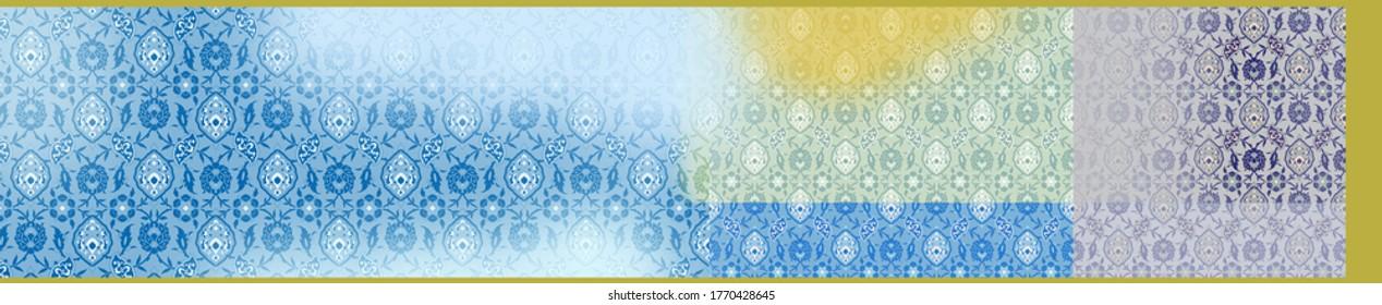 Traditional Style Indian pattern designer saree, digital printed saree