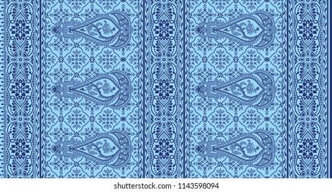 traditional  textile background sari ble  border design