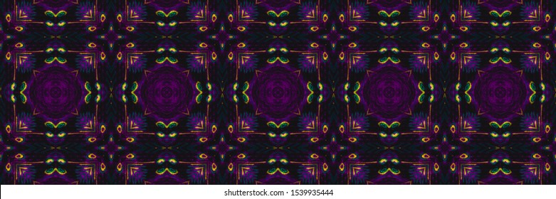 Traditional Tile. Ethnic Embroidery Plant Cyberpunk Seamless. Traditional Tile Background. Lilac Sicilian Tile Seamless. Cyberpunk Turkish