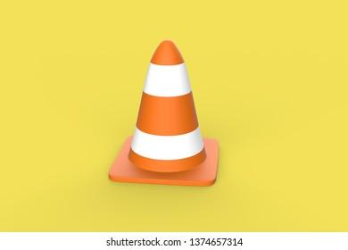 Traffic cone 3d illustration