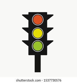 Traffic ligh icon on white background
